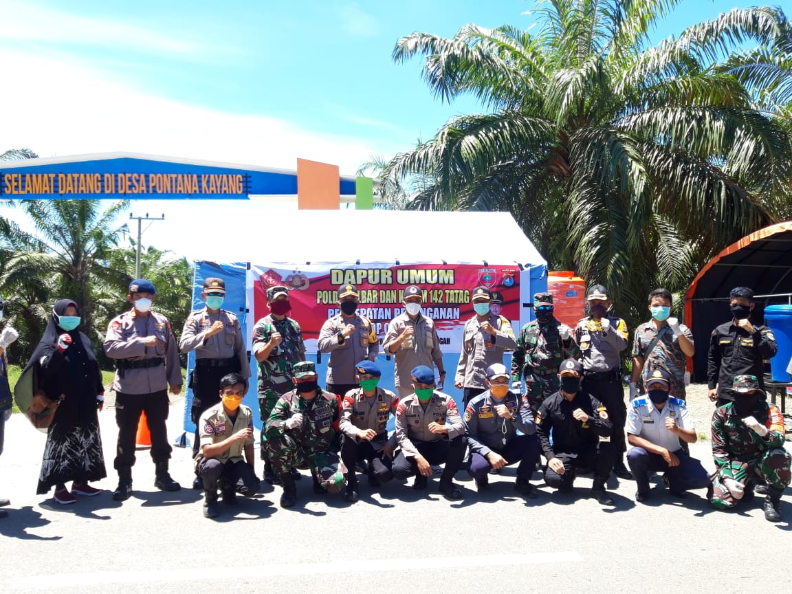 Soliditas TNI/POLRI Bantu Percepatan Penanganan Covid-19 di Sulbar Makin Mantap
