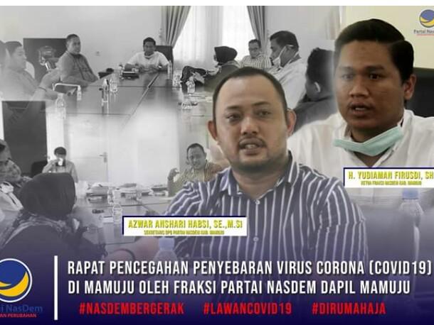Fraksi Nasional Demokrat DPRD Mamuju Lawan Covid-19