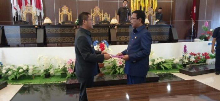 DPRD Mamuju Rapat Paripurna Pengambilan Keputusan Revisi RPJMD 2026-2021