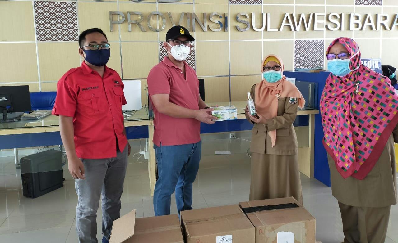 Arwan Aras Kembali Serahkan Bantuan Masker dan Hand Sanitizer ke Rumah Sakit dan Puskesmas