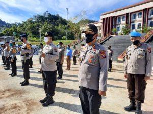 Penyerahan Jabatan 3 Pejabat Utama Polda Sulbar Dilaksanakan Sesuai Standar Protokol Kesehatan