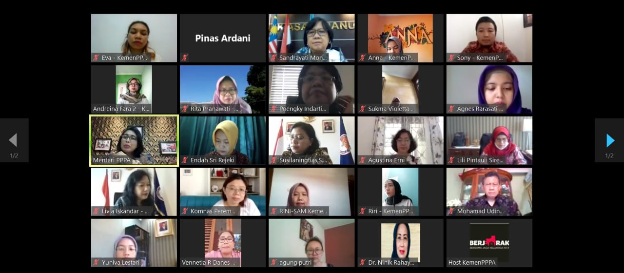 Menteri Bintang Ajak Perempuan Pimpinan Lembaga Tinggi Negara Jadi Garda Depan Cegah COVID - 19