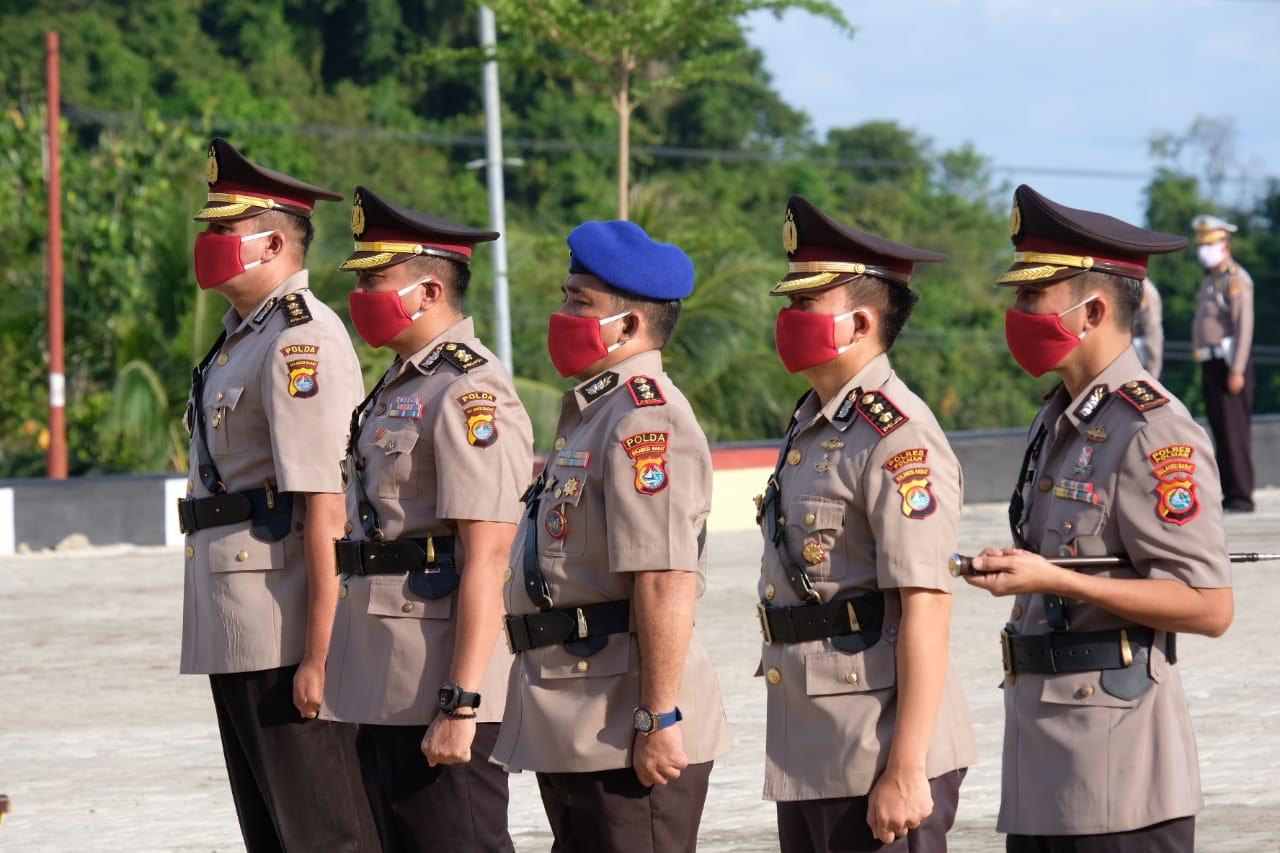 Pengukuhan Tiga Pejabat Utama Polda Sulbar dan Sertijab Kapolres Polman
