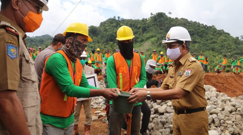 ABM Resmikan Pembangunan Bendungan Desa Pokkang