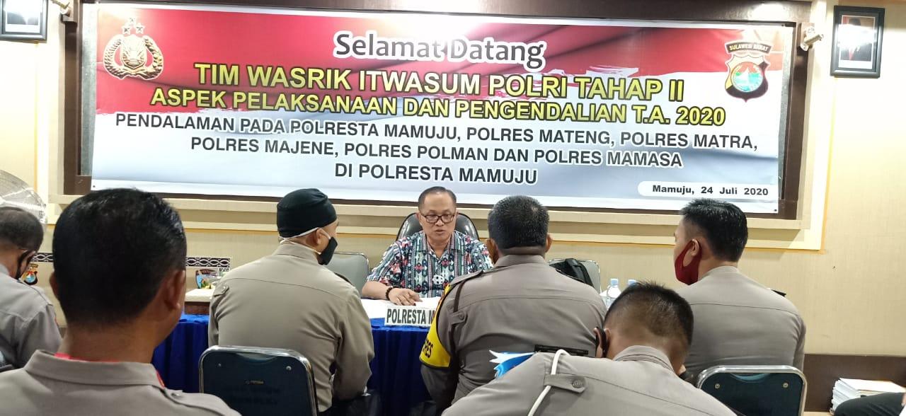 Polres Jajaran Polda Sulbar Jalani Pengawasan dan Pemeriksaan Dari Itwasum Polri