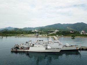 Dua Kapal Perang TNI AL Sandar Di Dermaga Rangas Lanal Mamuju