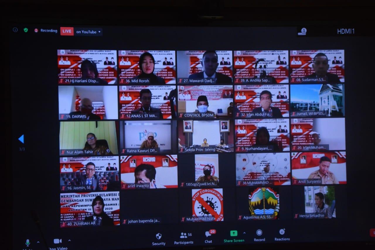 40 Peserta PKP Studi Lapangan Ke Jawa Tengah Secara Virtual