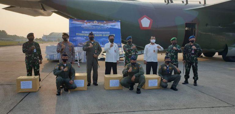 Altar AKABRI 89 Berangkatkan Bantuan 4600 Paket Sembako Ke NTT Dan Ambon