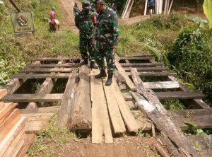 Dandim 1418/Mamuju Tinjau lokasi Karya Bakti di Dusun Ulu Taan