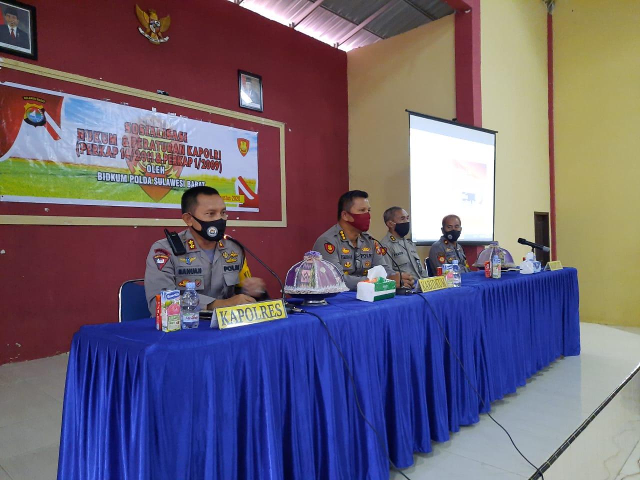 Polres Majene Ikuti Sosialisasi Hukum dan Peraturan Kapolri