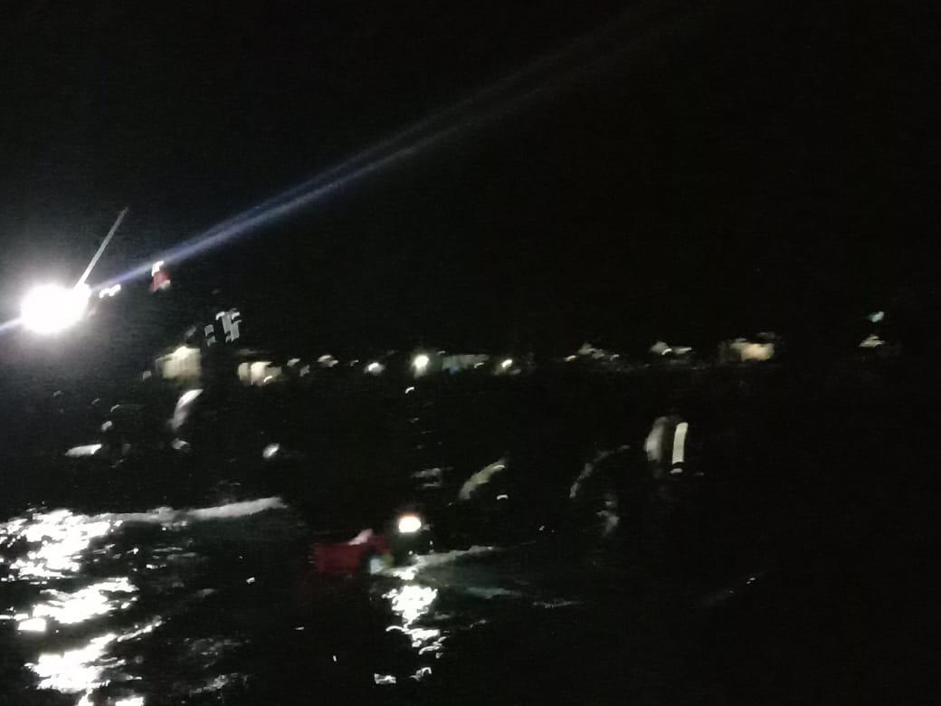 Satu Kapal Nelayan Terbalik di Perairan Rangas Mamuju