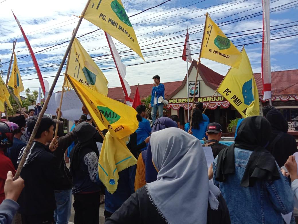 Rekannya Dipukul,PMII Cab Mamuju Gelar Aksi Solidaritas