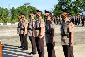 Tiga Pejabat Utama Polda Sulbar Sertijab