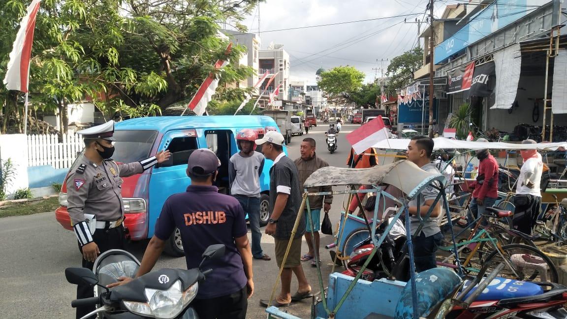 Ops Aman Nusa II, Polres Majene Sosialisasi Patuh Protokol Kesehatan