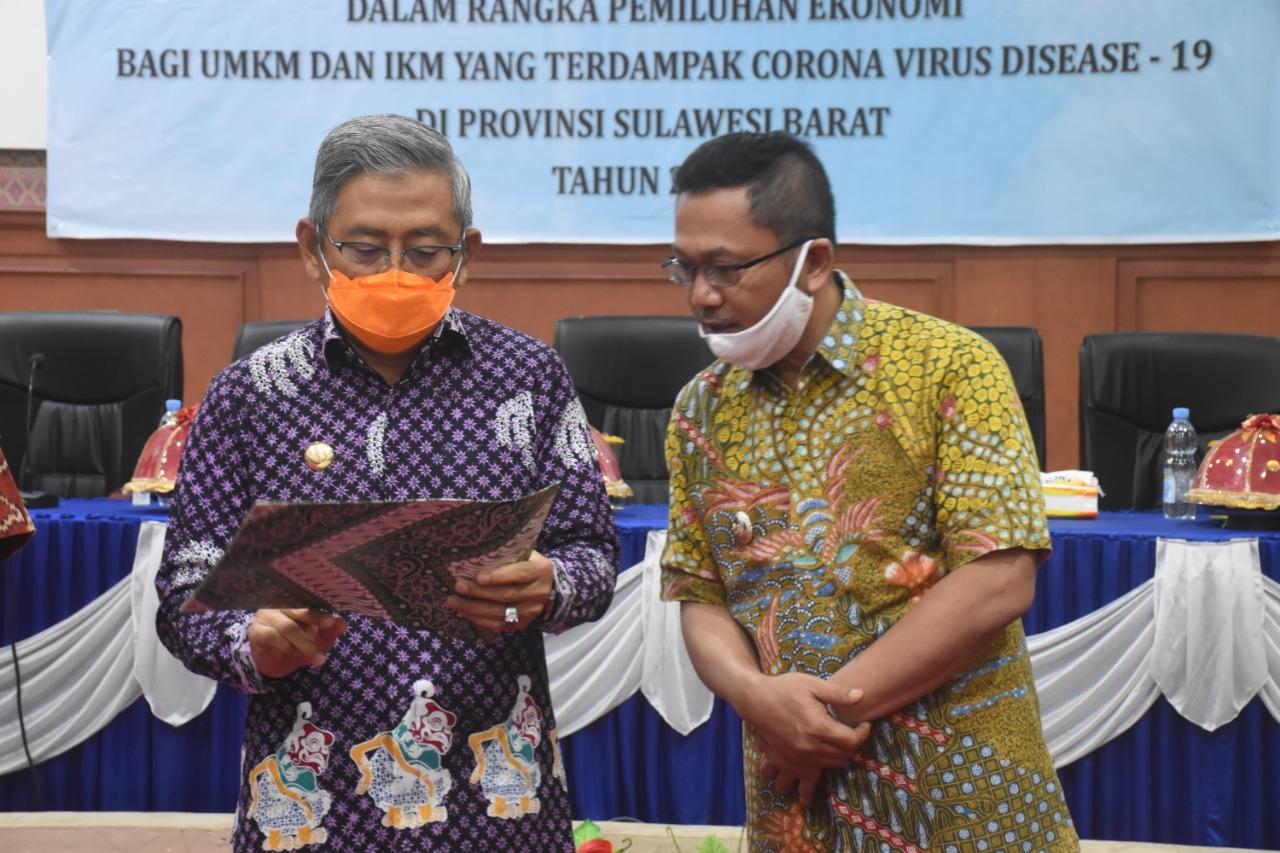 342 UMKM /IKM Terima Bantuan Covid-19 dari Gubernur Sulbar