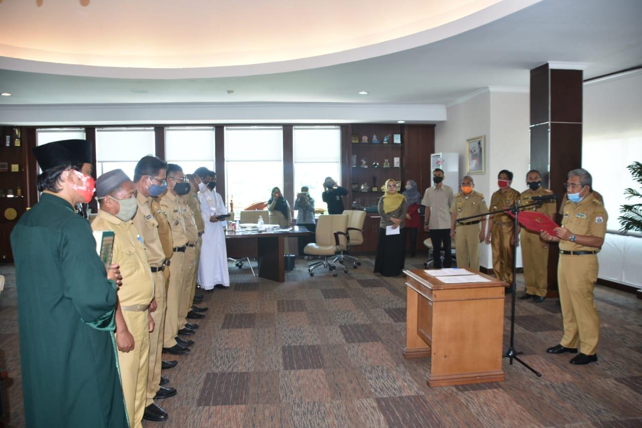 Tujuh Pejabat Administrator Pemprov Sulbar Dilantik