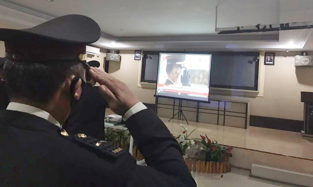 Polresta Mamuju Gelar Nobar Merdeka Detik-detik Proklamasi Kemerdekaan RI Ke-75