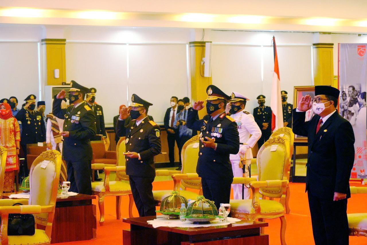 Sinergitas Pemerintah Provinsi Sulbar Jajaran TNI - POLRI di HUT Proklamasi