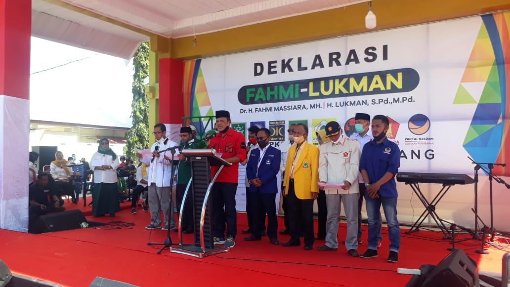 Polres Majene Pastikan Deklarasi Pasangan Calon Fahmi-Lukman Berjalan Aman