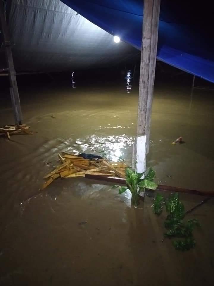 Hujan Deras,Dusun Talondo Bonehau Mamuju Terendam Banjir