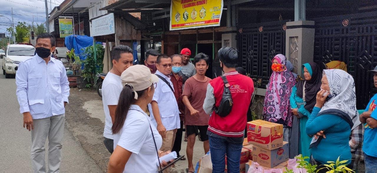 DPC Gerindra Mamuju Serahkan Bantuan Kepada Korban Kebakaran di Jl.Mangga