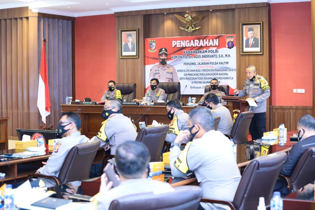 Kabaharkam Polri Gelar Supervisi Operasi Aman Nusa II di Polda Kaltim