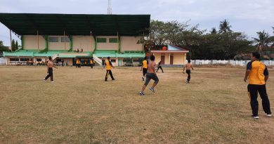 Jumat Sehat, Polres Majene Kembali Laksanakan Sepak Bola