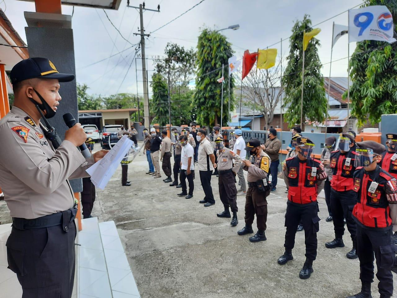 Kabag Ops Majene Lakukan Pengecekan Kesiapan Pengamanan Pendaftaran Bakal Calon
