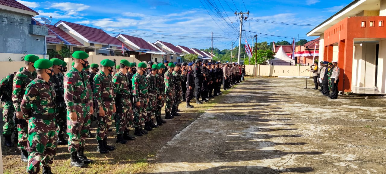 Polresta Mamuju Jamin Keamanan Pendaftaran Bapaslon di KPU Mamuj
