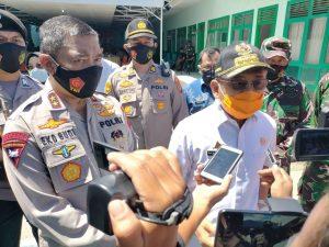 Polda Sulbar , Korem 142 Tatag, dan Pemprov Sulbar Kampanyekan Penggunaan Masker