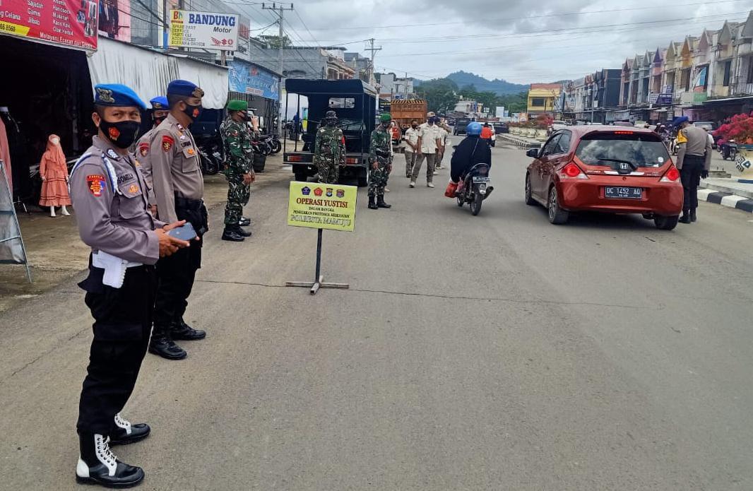 Tim Gabungan Ops Yustisi Kabupaten Mamuju Terus Lakukan Himbauan