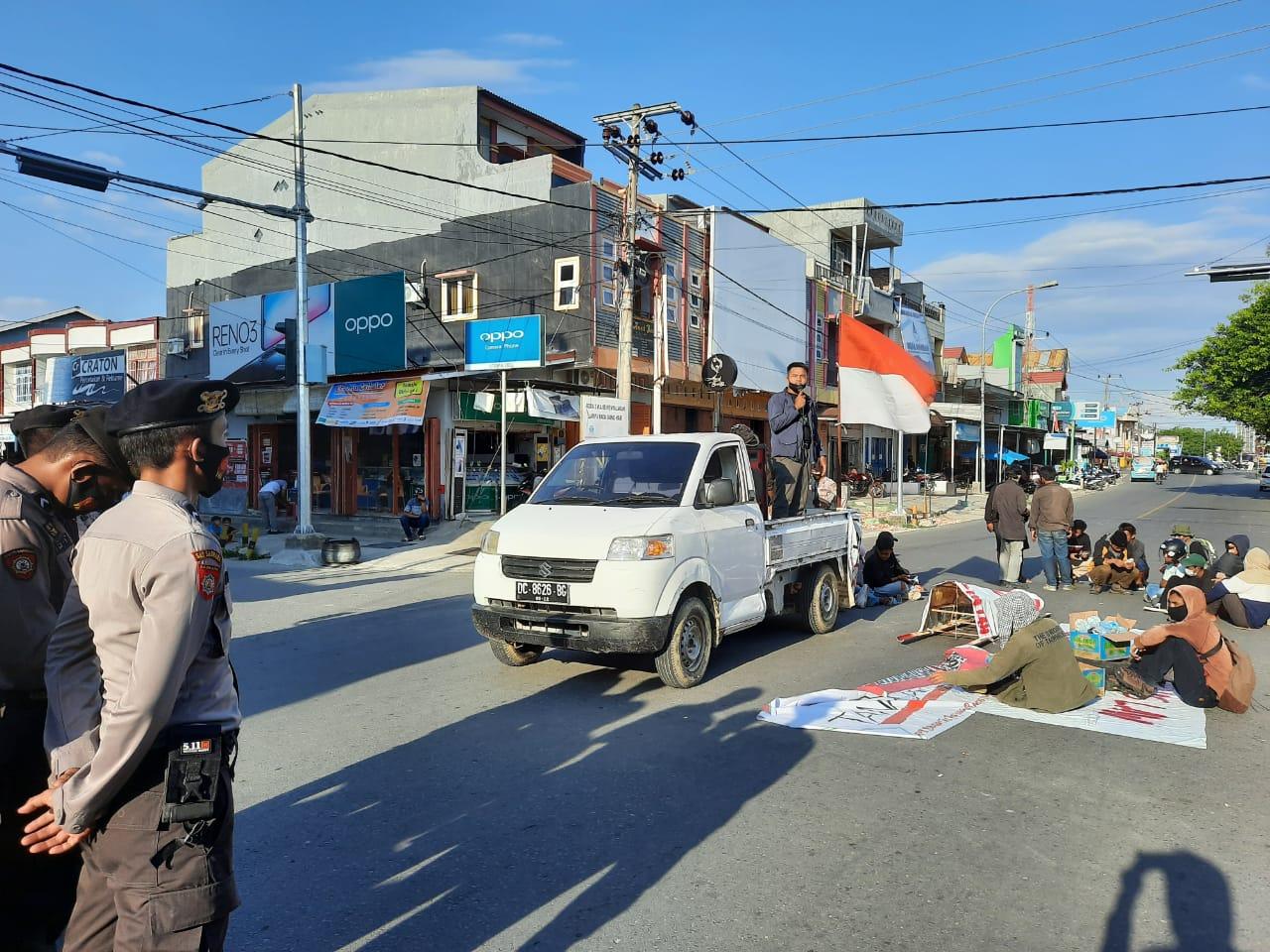 Part 3 Pengamanan Aksi Penolakan UU Cipta Kerja di Majene
