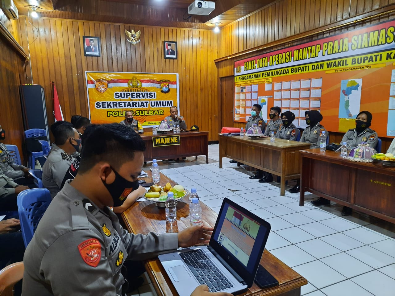 Polres Majene Terima Kunjungan Supervisi Setum Polda Sulbar.