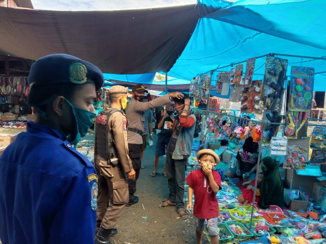 Operasi Yustisi, Polsek Karossa Sasar Pasar Tradisional