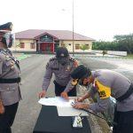 Kapolres Pasangkayu Pimpin Serah Terima Kapolsek Baras.