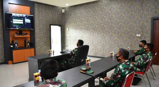 Danrem 142/Tatag Video Conference Dengan Tim Current Audit Itjenad