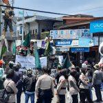 Polisi di Majene Kawal Aksi Penolakan Undang Undang Cipta Kerja