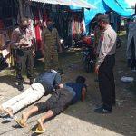 Sasar Pengunjung Pasar Polsek Malunda  Lakukan Operasi Yustisi