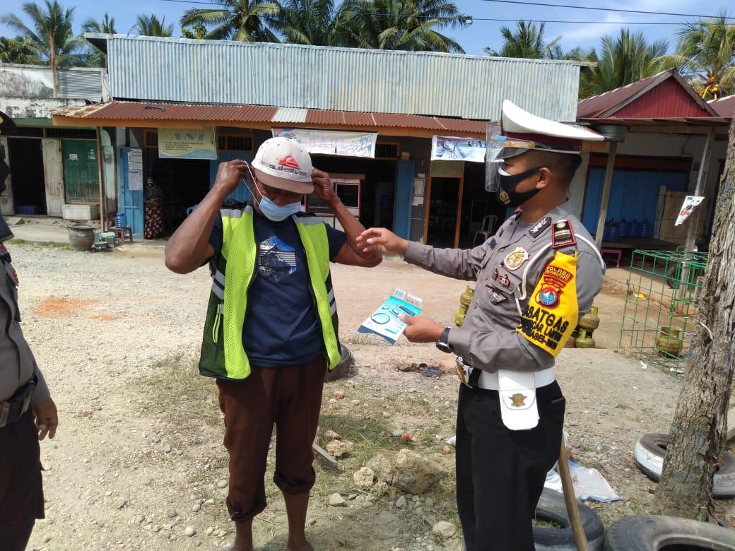 Personil Polres Pasangkayu Operasi Zebra di Jalan Trans Sulawesi