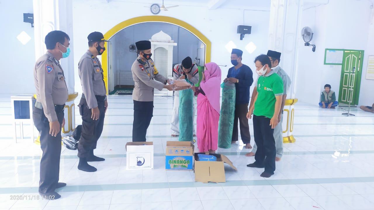 Program 4S Polres Majene Sasar Masjid Baitul Wahdaniyah Teppo