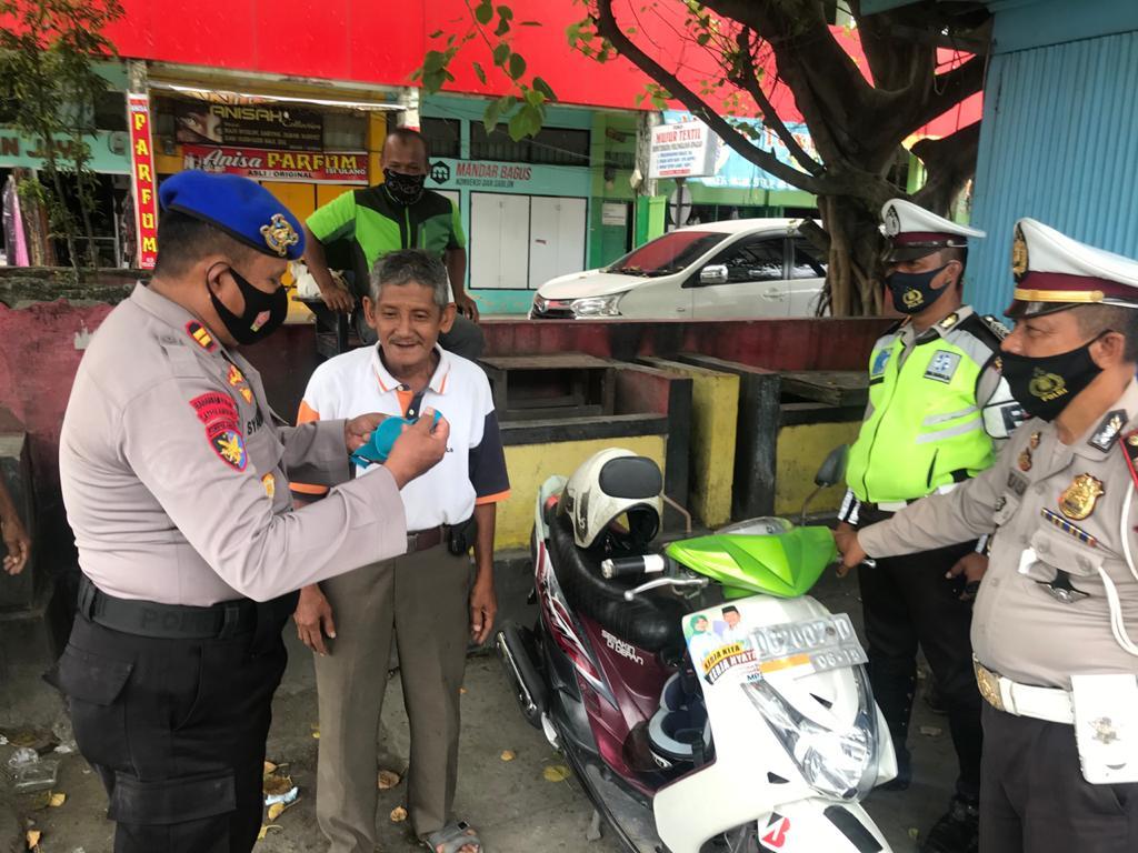 Polantas Majene Imbau Warga Terapkan Protokol Kesehatan