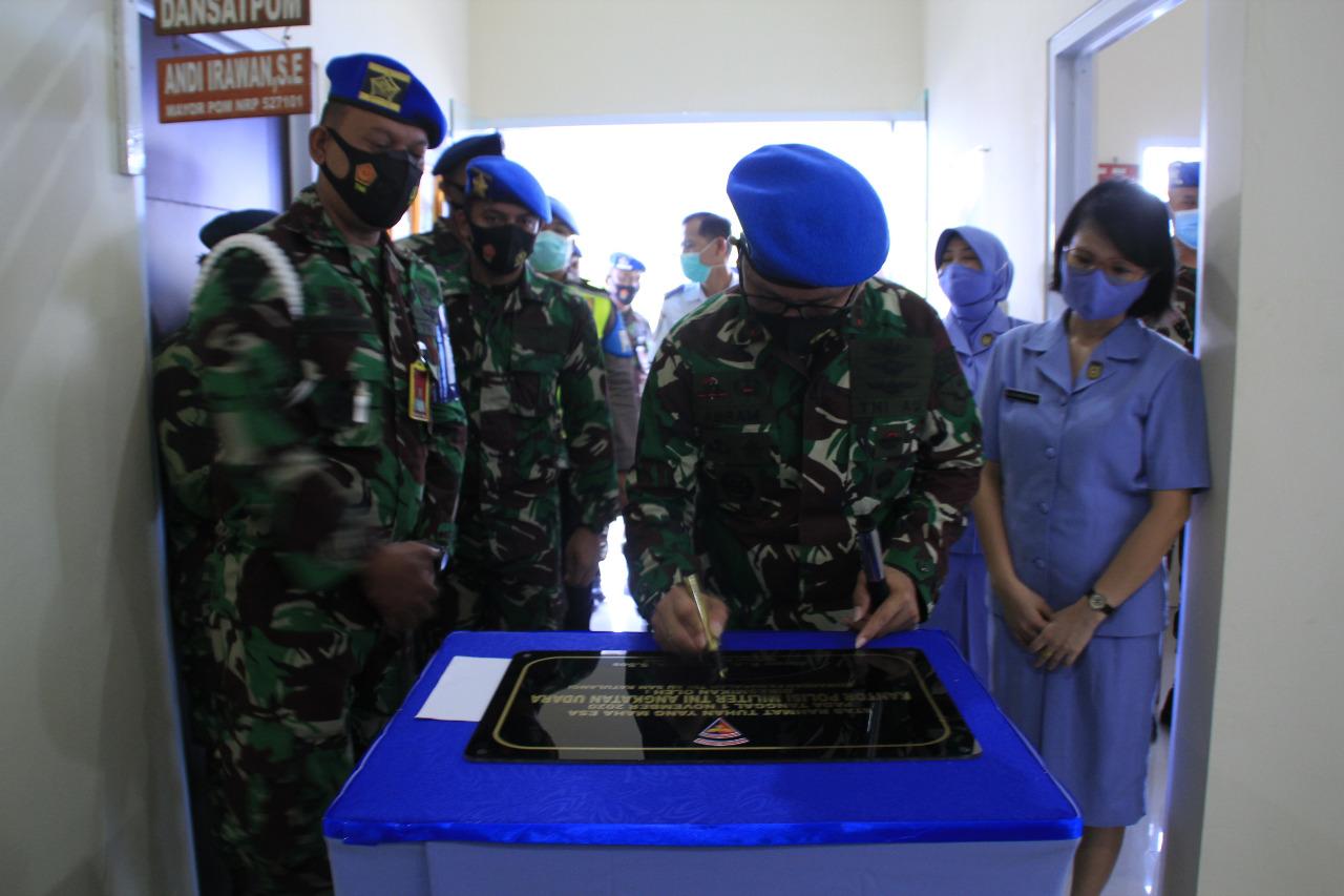 Satuan Polisi Militer Lanud Sam Ratulangi Resmi Kantor Baru