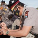 Sertijab Pejabat Polda Sulbar Terapkan Protokol Kesehatan