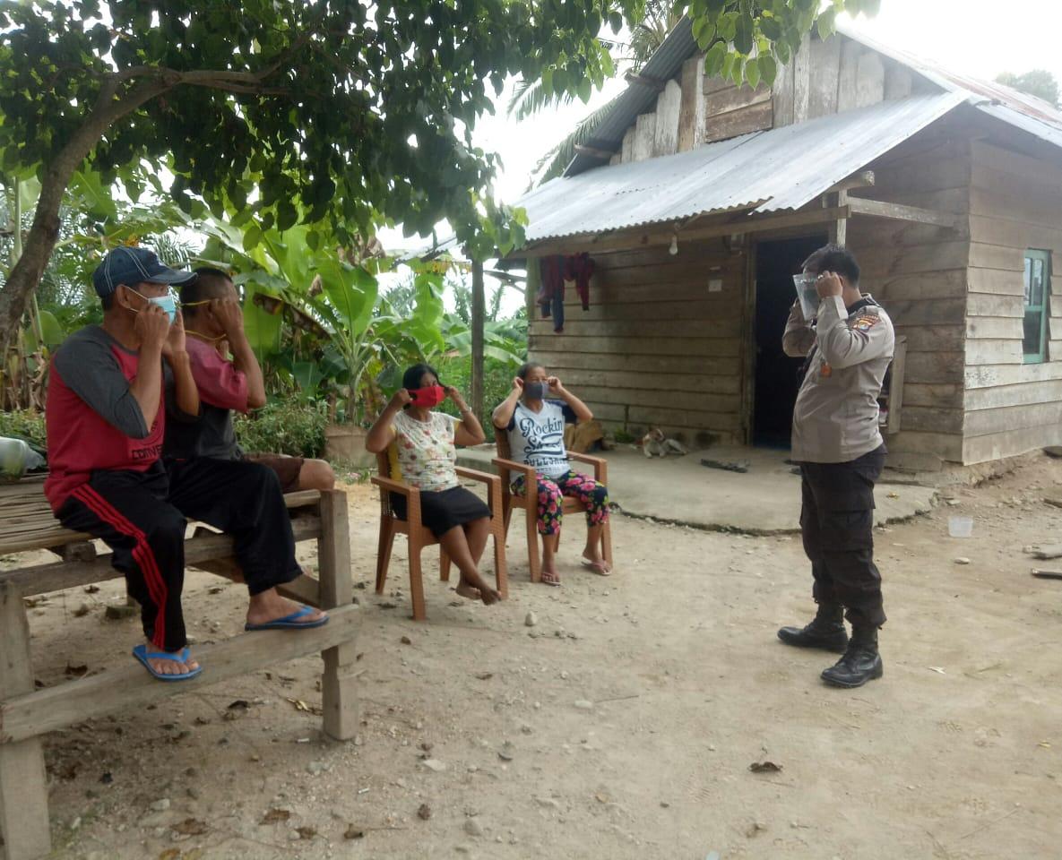 BKTM Desa Lemo-Lemo Beri Himbauan Protokol Kesehatan