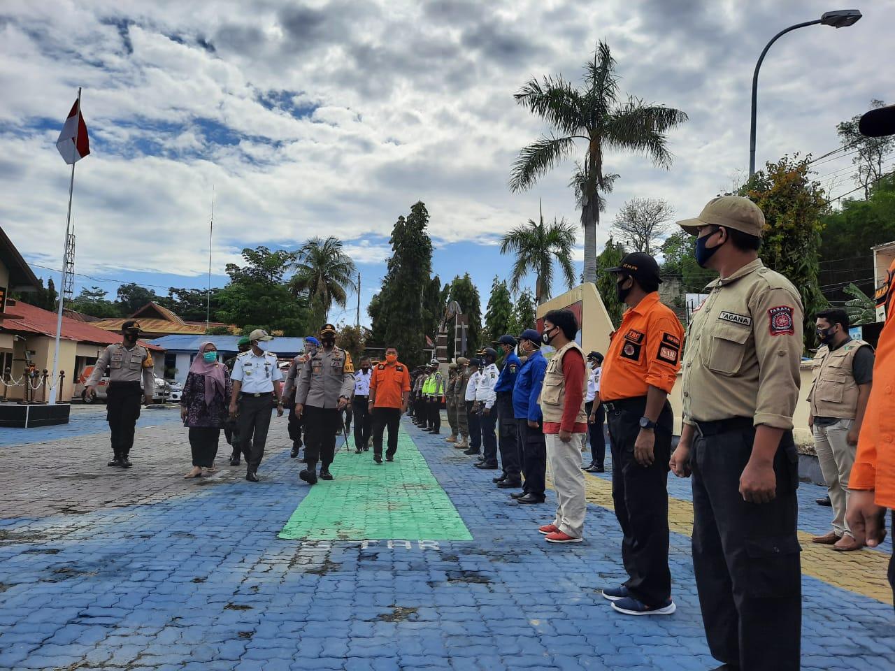 Apel Konsolidasi Ops Kontijensi Aman Nusa II di Polres Majene