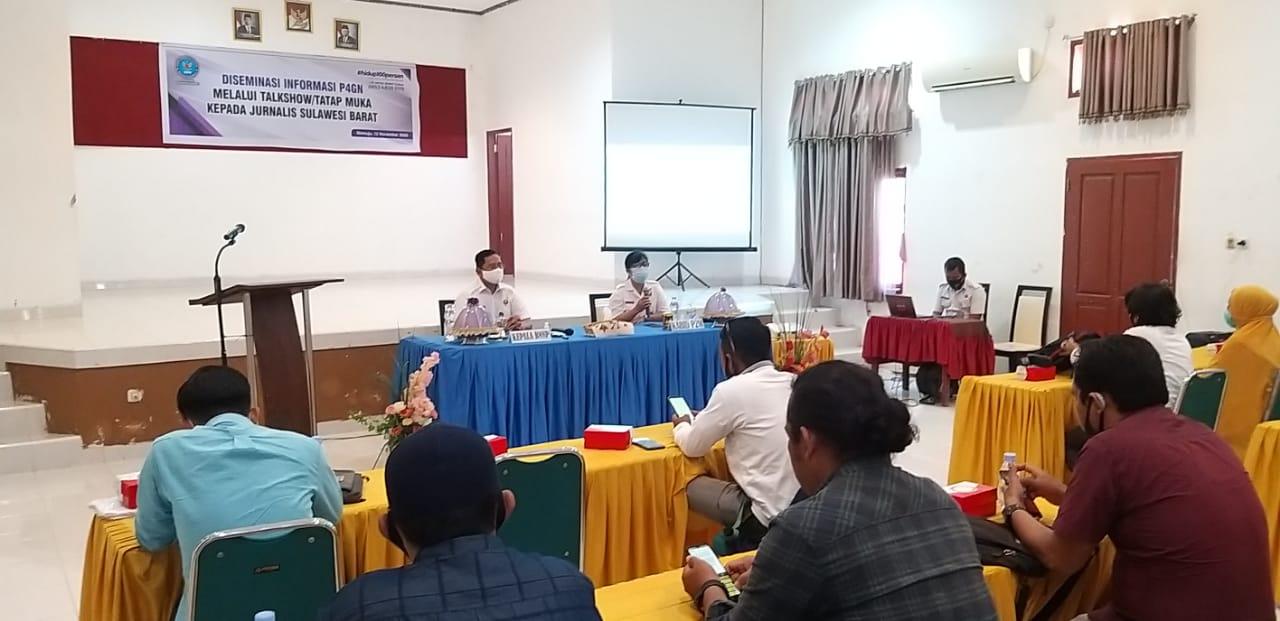 Undang Wartawan, BNNP Sulbar Desiminasi Informasi P4GN