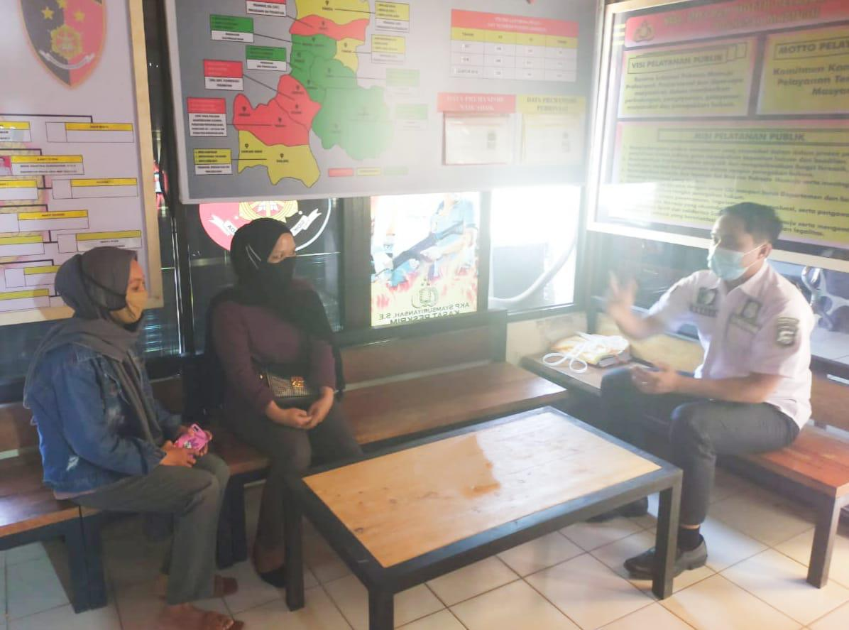 Sat Reskrim Polresta Mamuju Layani Masyarakat Terkait Informasi Hukum