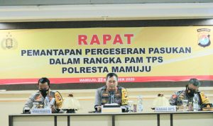 Kapolresta Mamuju Rapat Pemantapan Pergeseran Pasukan PAM TPS