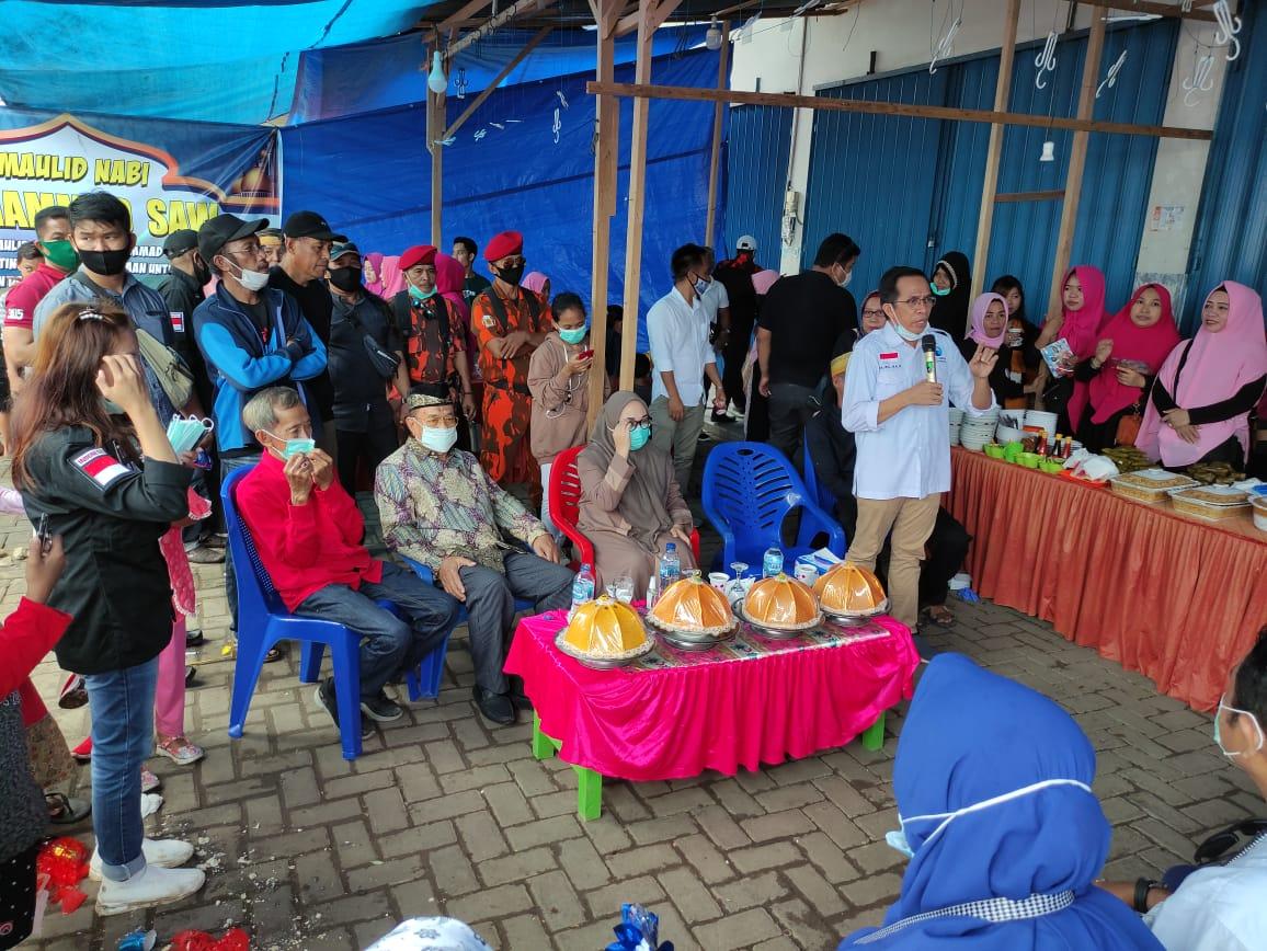 Sitti Sutinah Suhardi Hadiri Undangan Maulid di Kompleks Pasar