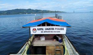 Logistik Pilkada Menuju Kecamatan Terjauh di Mamuju